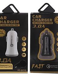 Недорогие -Автомобильное зарядное устройство / Быстрое зарядное устройство QC 3.0 Автомобильное зарядное устройство RoHs