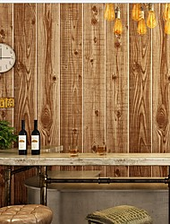 Недорогие -обои Пластиковые & Металл Облицовка стен - Клей требуется Имитация дерева