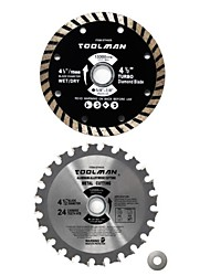 cheap -2pc set 4-1/2 4.5 24T Circular Saw Blade Turbo Finish for DeWalt Bosch Makita