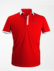 cheap -Men's Tee / T-shirt Short Sleeve Golf Outdoor Spring Summer / Cotton / Stretchy / Quick Dry / Breathable / Solid Color