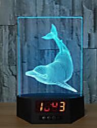 Недорогие -1 шт. 3d usb светодиодная лампа дельфины рыба комната декор 7 изменение цвета зрительная иллюзия 3d ночник для детей друг подарок