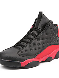 cheap -Men's Novelty Shoes Faux Leather Spring & Summer / Fall & Winter Sporty / Preppy Athletic Shoes Basketball Shoes / Walking Shoes Breathable Black / Black / White / Red / Non-slipping / Wear Proof