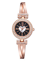 cheap -Women's Quartz Watches Heart shape Fashion Silver Rose Gold Alloy Chinese Quartz Blushing Pink black / silver Rose Gold Cute Creative Casual Watch 1 pc Analog