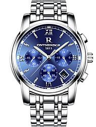 cheap -Men's Dress Watch Quartz Black / Silver / Gold 30 m Water Resistant / Waterproof Calendar / date / day Stopwatch Analog Fashion - Silver+Blue Silver / Black Gold / Silver