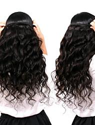 Недорогие -6 Связок Малазийские волосы Свободные волны человеческие волосы Remy 300 g Человека ткет Волосы Пучок волос One Pack Solution 8-28inch Естественный цвет Ткет человеческих волос / Необработанные