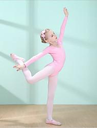 cheap -Kids' Dancewear / Ballet Leotards Girls' Training / Performance Cotton Bow(s) / Ruching Leotard / Onesie