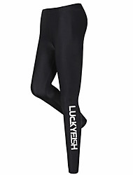 cheap -LUCKYFISH Women's Dive Skin Leggings Bottoms UV Sun Protection Quick Dry Swimming Diving Painting Autumn / Fall Spring Summer / High Elasticity