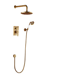 cheap -Shower Faucet Antique Copper Wall Mounted Ceramic Valve Bath Shower Mixer Taps
