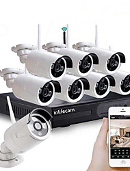 cheap -8CH 720P fresh factory 720P 8channel special design wireless security camera wifi NVR Kit