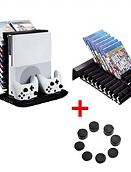 cheap -XBOX ONE SLIM Charger Stand Multi-function 4 in 1 Built-in Cooling Fan Game Accessories black