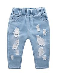 cheap -Kids Boys' Basic Street chic Color Block Cut Out Jeans Blue