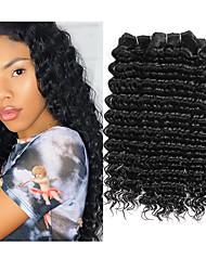 Недорогие -3 Связки Бразильские волосы Крупные кудри человеческие волосы Remy 300 g Человека ткет Волосы Пучок волос One Pack Solution 8-28 inch Естественный цвет Ткет человеческих волос