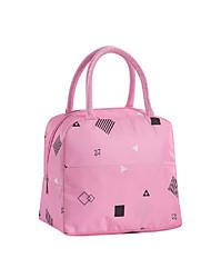cheap -Women's Oxford Cloth Lunch Bag Zipper Scenery Geometric Pattern Daily Outdoor Handbags Pink Green Sky Blue Rainbow