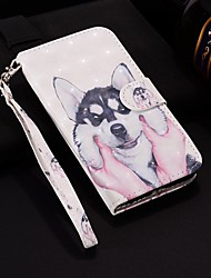cheap -Case For Apple iPhone XR / iPhone XS Max Pattern / Flip / with Stand Full Body Cases Laser 3D Husky Hard PU Leather for iPhone 6 / 6 Plus / 6S / 6S Plus / 7 / 7 Plus / 8 / 8 Plus / XS / X