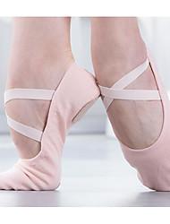 cheap -Girls' Ballet Shoes Canvas Flat Flat Heel Dance Shoes Camel / Pink / Performance / Practice