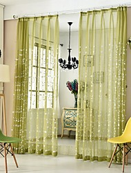 cheap -Country Semi-Sheer One Panel Sheer Study Room / Office   Curtains / Embroidery