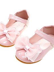 cheap -Girls' Comfort / Flower Girl Shoes PU Flats Toddler(9m-4ys) Bowknot White / Light Pink Spring / Fall / Party & Evening / Rubber
