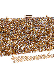 cheap -Women's Bags Evening Bag Rhinestone Solid Colored Glitter Shine Party Event / Party Party & Evening Evening Bag Wedding Bags Handbags Black Gold Silver