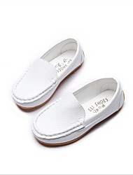 cheap -Boys' Loafers & Slip-Ons Moccasin Faux Leather Little Kids(4-7ys) / Big Kids(7years +) White / Black / Yellow Spring