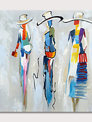 cheap -Oil Painting Hand Painted - Abstract People Classic Modern Rolled Canvas