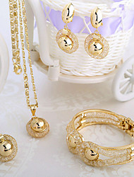 cheap -Women's White Bracelet Bangles Pendant Necklace Tennis Chain Mushroom Letter Ball Dainty Stylish Classic European Fashion 18K Gold Plated Imitation Diamond 18K Gold Earrings Jewelry Gold For