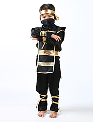 cheap -Ninja Halloween Props Kid's Boys' Halloween Halloween Festival / Holiday Knitting Black Carnival Costumes