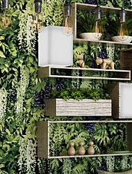 cheap -Wallpaper Plastic & Metal Wall Covering - Adhesive required Trees / Leaves