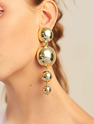 cheap -Women's Drop Earrings Dangle Earrings Geometrical European Fashion Modern Oversized Earrings Jewelry Gold For Party Daily Carnival Street Bar 1 Pair