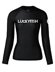 cheap -LUCKYFISH Women's Rash Guard Swim Shirt UV Sun Protection Quick Dry Long Sleeve Swimming Diving Painting Autumn / Fall Spring Summer / High Elasticity