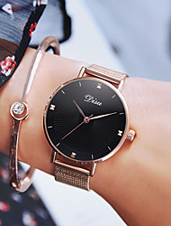 cheap -Women's Quartz Watches Quartz Stylish Classic Water Resistant / Waterproof Stainless Steel Rose Gold Analog - White Black Blushing Pink One Year Battery Life / Imitation Diamond