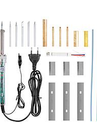 Недорогие -220v регулируемая температура электрический паяльник комплект 100-450 градусов жк-экран паяльник экран обновления и ремонта инструмента 60 Вт