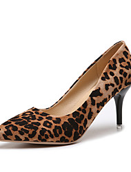 cheap -Women's Heels Stiletto Heel Suede Spring & Summer Black / Leopard / Green / Party & Evening / Party & Evening