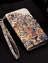 cheap -Case For Samsung Galaxy J4(2018) / Galaxy J6(2018) Pattern / Flip / with Stand Full Body Cases Laser 3D Leopard Hard PU Leather for J4 Plus / J6 Plus / J3(2017) / J5(2017) / J7(2017)