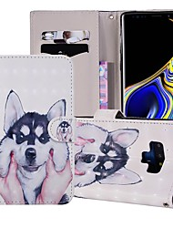 cheap -Case For Samsung Galaxy Note 9 Wallet / Card Holder / with Stand Full Body Cases Dog Hard PU Leather