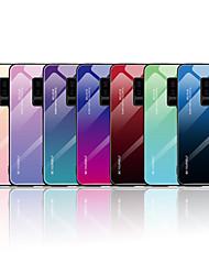 Недорогие -Кейс для Назначение SSamsung Galaxy Note 9 / Note 8 С узором Кейс на заднюю панель Слова / выражения / Градиент цвета Мягкий Закаленное стекло