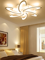 cheap -1-Light 70 cm Dimmable LED Flush Mount Lights Aluminum Acrylic Circle Geometrical Novelty Anodized LED Modern 110-120V 220-240V FCC