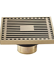 cheap -Floor Drain Solid Brass Block Hair Floor Register 1pc - Bathroom 12cm*12cm