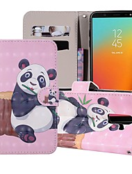 cheap -Case For Samsung Galaxy J8 (2018) / J7 (2017) / J7 (2018) Wallet / Card Holder / with Stand Full Body Cases Cat / Dog / Butterfly Hard PU Leather