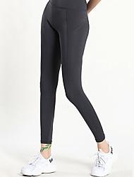 abordables -Femme Taille Haute Pantalon de yoga Couleur unie Course / Running Fitness Entraînement de gym Collants Tenues de Sport Séchage rapide Butt Lift Contrôle du Ventre Power Flex Elastique Slim