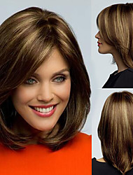 cheap -Synthetic Wig Straight Tara Pixie Cut Wig Short Flaxen Synthetic Hair 12 inch Women's Adjustable Heat Resistant Easy dressing Dark Brown