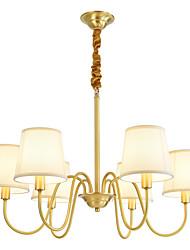 Недорогие -OYLYW 6-Light 73 cm Новый дизайн Люстры и лампы Медь Ткань Свеча-стиль Латунь Традиционный / классический / Modern 110-120Вольт / 220-240Вольт