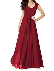 cheap -Women's Basic Elegant Sheath Swing Dress - Solid Colored Lace Cut Out Blue Black Red L XL XXL