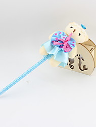 cheap -Plastic Lovely Bear Blue Pencil Lead Ballpoint Pure Hand-made Craft Gifts For Children Learning Office Stationery