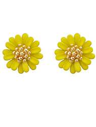 cheap -Women's Stud Earrings Geometrical Flower Stylish Trendy Earrings Jewelry Yellow / Pink For Party Daily Festival 1 Pair