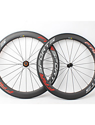cheap -FARSPORTS 700CC Wheelsets Cycling 23 mm Road Bike Carbon Fiber Clincher / Tubeless Compatible 20/24 Spokes 60 mm