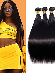 cheap -3 Bundles Peruvian Hair Straight Unprocessed Human Hair 100% Remy Hair Weave Bundles Bundle Hair Human Hair Extensions Hair Weft with Closure 8-28 inch Natural Human Hair Weaves Fashionable Design