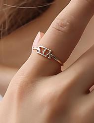 cheap -Ring Black Gold Silver Alloy 1pc / Women's