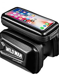 cheap -Cell Phone Bag Bike Handlebar Bag 6.2 inch Cycling for iPhone 8 Plus / 7 Plus / 6S Plus / 6 Plus iPhone X Black Cycling / Bike