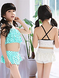 cheap -Girls' Two Piece Swimsuit Spandex Swimwear UV Sun Protection Quick Dry Sleeveless 2-Piece - Swimming Patchwork Spring Summer / High Elasticity / Kid's