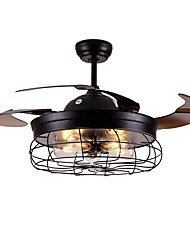 cheap -1-Light QINGMING® 108 cm Mini Style / Tri-color Ceiling Fan Metal Mini Painted Finishes LED / Retro Vintage 110-120V / 220-240V